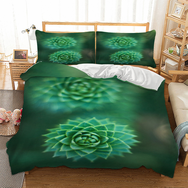 Plant 3d Bedding Set Twin Full Queen King Uk Double Au Single Size