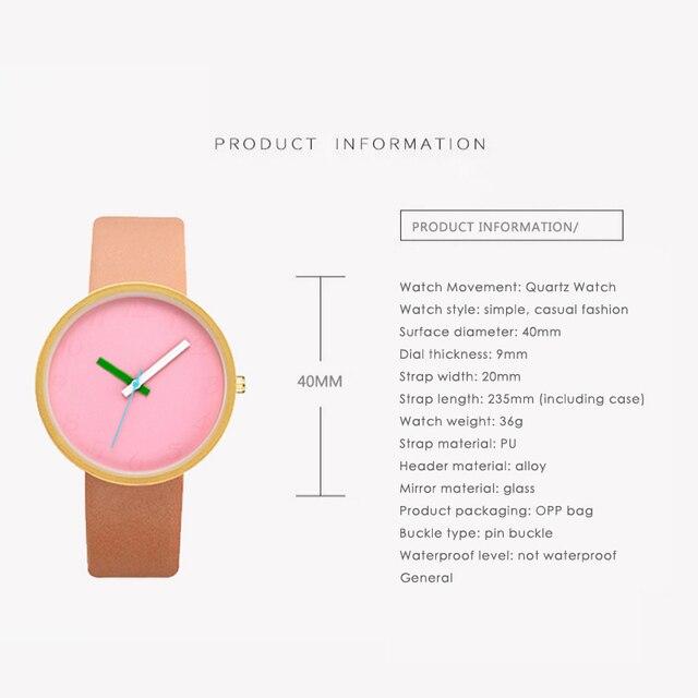 2018 New Leather Classic Quartz Watch Women Watches Lovers Jelly Casual Women Wrist Watch Clock Relogio Feminino