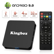 Android TV Box 9.0, K4 S Android Box with 4GB RAM 32GB ROM Quad-Core Support BT 4.1 WiFi 4K 3D H.265 TV Box with Remote