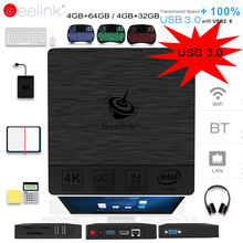 Original Beelink BT3 Pro Mini PC WiFi BT 4.0 Windows 10 Intel Atom X5-Z8350 64Bit 4G/32G 4G/64G PK Beelink AP42 TV BOX