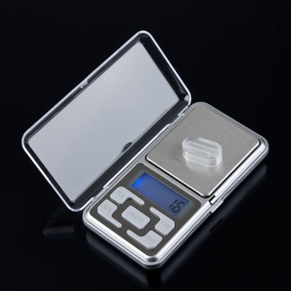 2017 Newest 1pcs 500g 0.1g Digital Scale Mini Pocket Weight Jewelry Diamond Digital Balance Electronic Scale with Blue Backlight