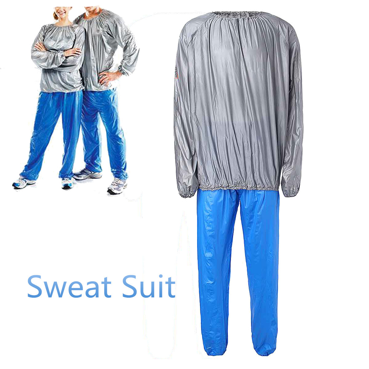 Sauna Suit Swear Workout PVC Fitness Unisex Slimmer Gym-Cloth Loss-Weight Exercise Body-Building