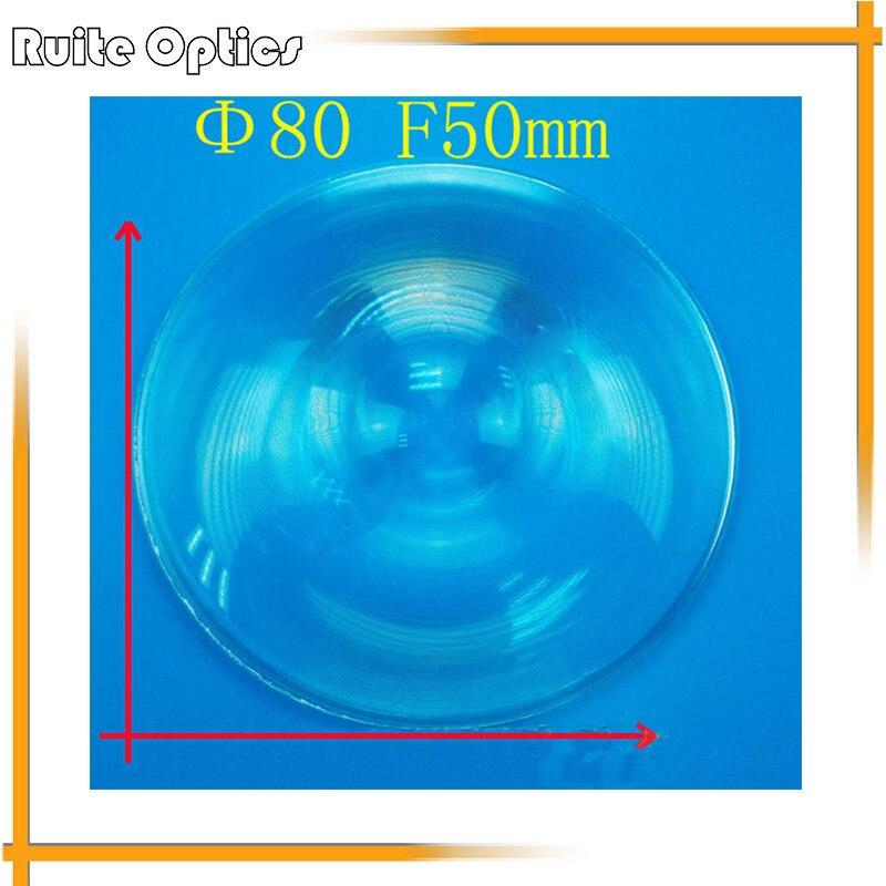 2 pièces 80mm diamètre rond en plastique Fresnel condensation lentille focale 50mm pour loupe d'avion, concentrateur solaire
