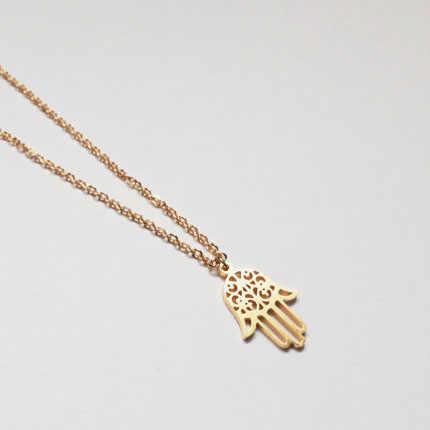 Fatima Hand สร้อยคอและจี้อาหรับมุสลิมคริสเตียนชาวยิวเครื่องประดับ Lucky Charm Chain Choker Collier Femme Bijoux