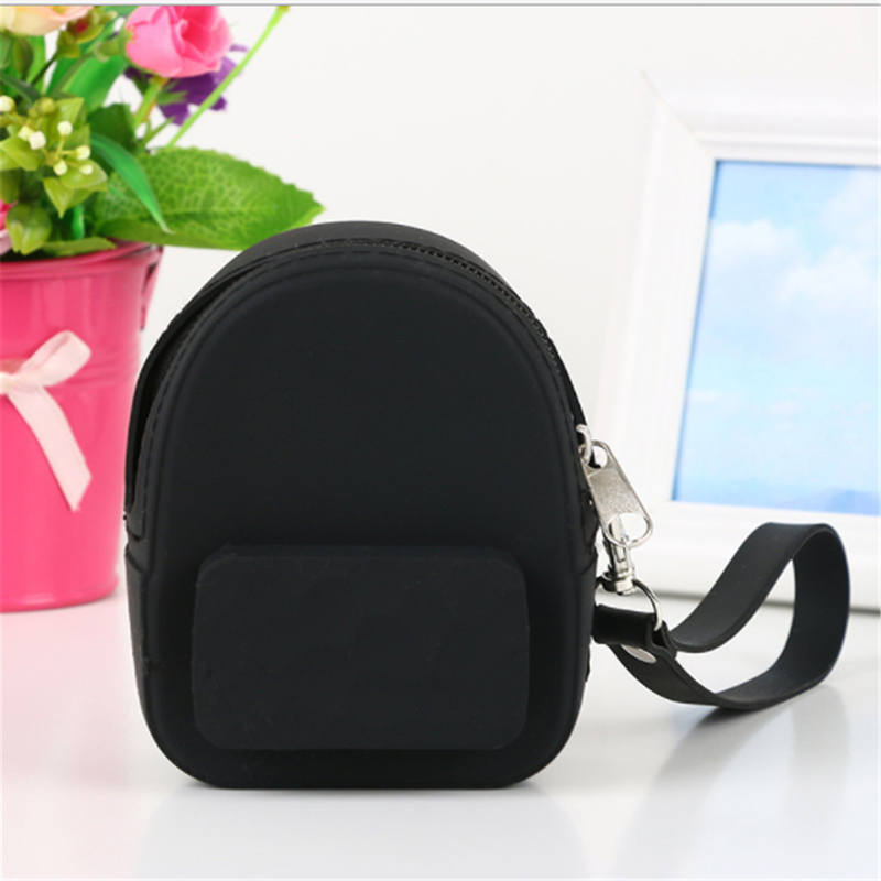 Silicone Candy Color Coin Purses Lovely Portable Coin Purse Earphones Pack Storage Bag For Women Girls