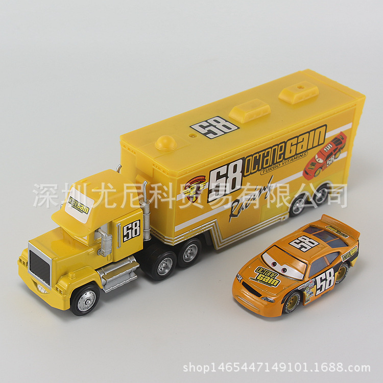 Disney 2pcs Car Toy No.58 and Mini Car Alloy Model 1:55 Scale Diecast Metal 8-20cm Toy for Childrens Christmas Gift