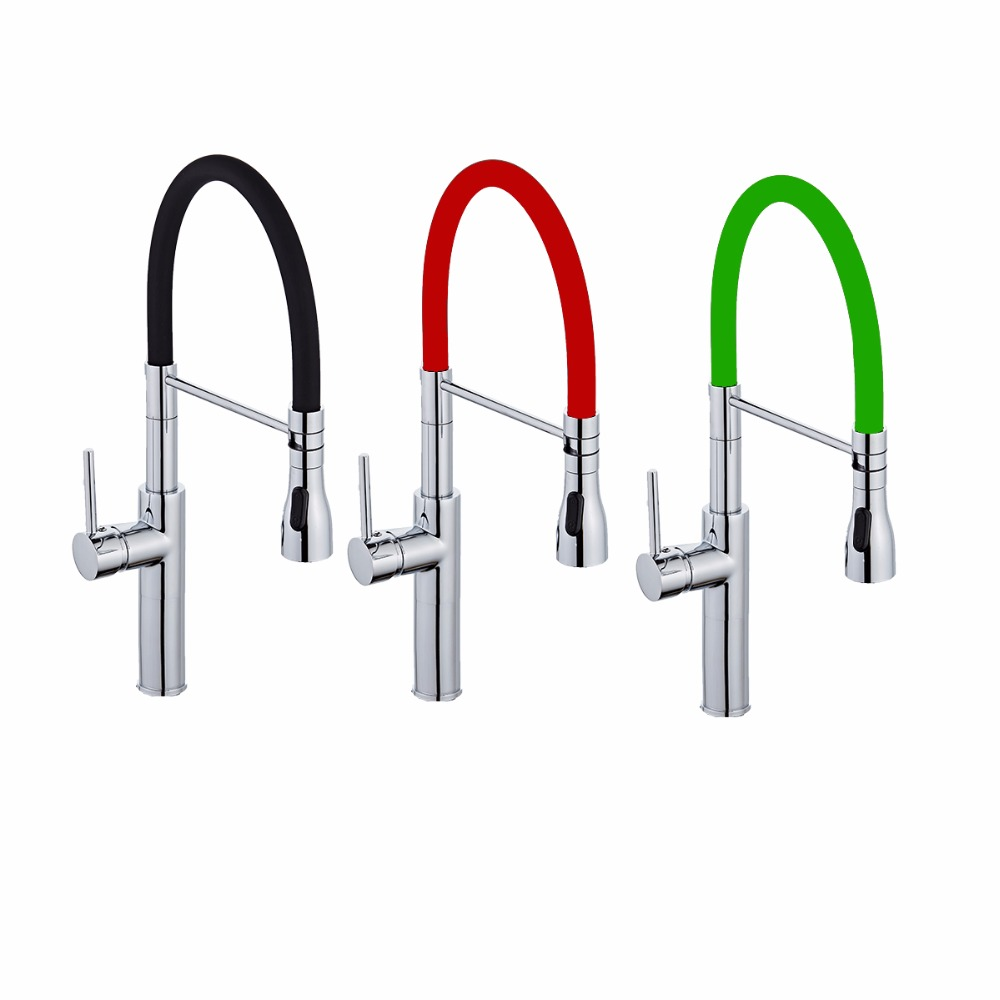 Colorful Kitchen Faucet Pull Up Down Sink Faucets Basin Mixer Tap ...
