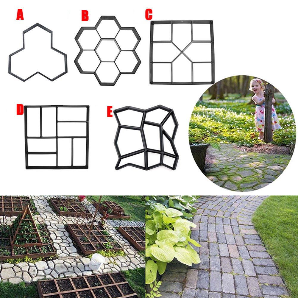 Path-Maker Garden Plastic UD88 Mould-Brick Pavement-Model Stone Concrete DIY