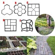 Garden DIY Plastic Path Maker Pavement Model Concrete Stepping Stone Cement Mould Brick UD88
