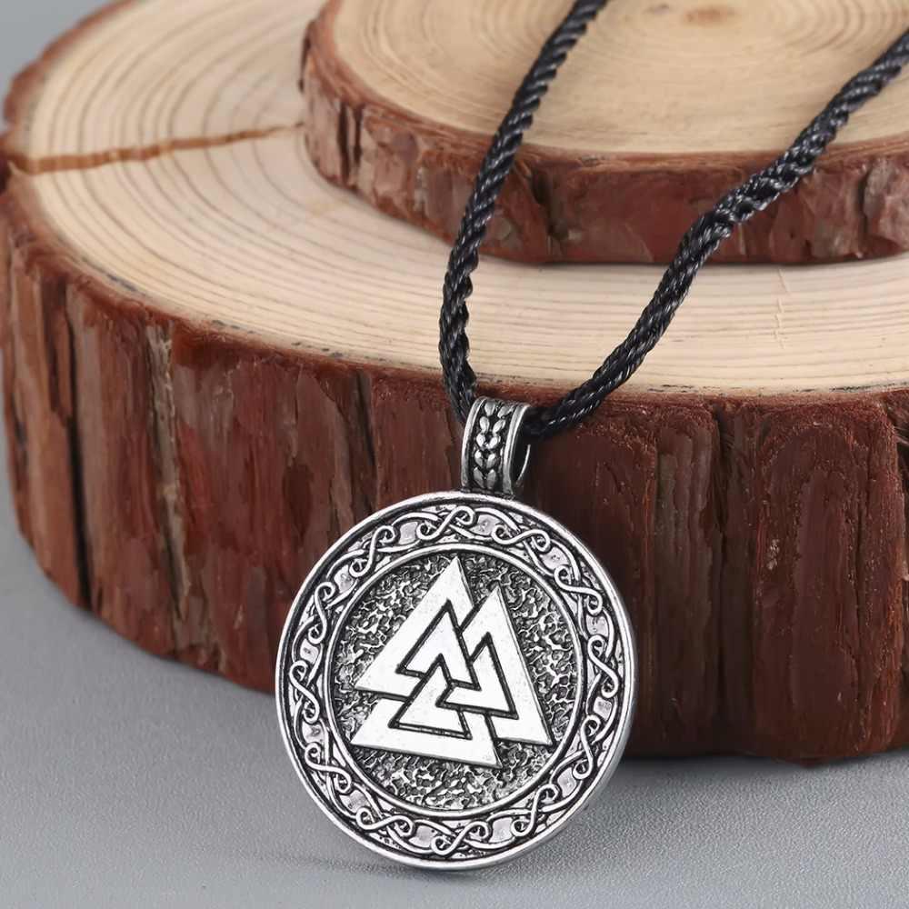 CHENGXUN wisiorek wikingów do naszyjnika Valknut Symbol Odin naszyjnik dla mężczyzn Nordic słowiańska biżuteria