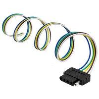 36 inch Kabel Lengte End Connector 12 V Output 5-Way Platte Trailer Kabelboom Extension Connector Socket Met