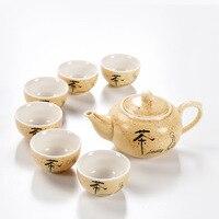 Chinese Gifts Porcelain Tea Set 6pcs Teacup 1pcs Teapot Kung Fu Tea The Highest Sales Of