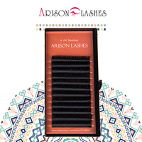 Arison 12Rows 0 03 Faux Mink Individual Eyelash Extension Cilia Lashes Extension For Professionals Soft Mink