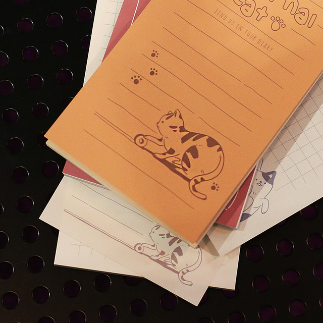 Kawaii Cute Cat Memo Pad Word Pocket Book Weekly Planner List Notepad 4