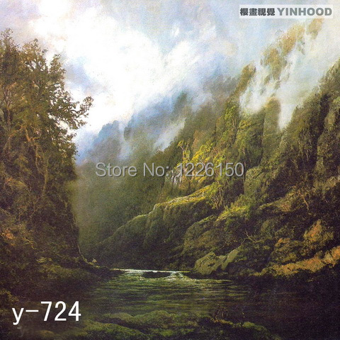 Mysterious scenic Backdrop Y724,10ft x20ft Hand Painted Photography Background,estudio fotografico,backgrounds for photo studio spring scenic backdrop y028 10ft x20ft hand painted muslin photography background estudio fotografico photo studio backdrop