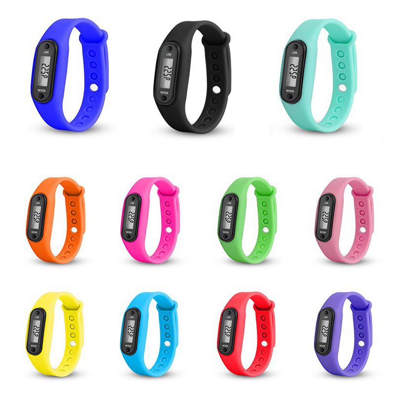 Sport Smart Wrist Pedometer Watch Bracelet Display Fitness Gauge  Tracker Digital LCD Pedometer Run Step Walking Calorie Counter