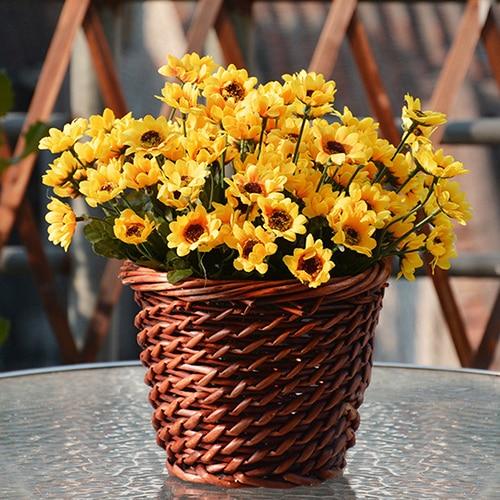 1 bouquet 14 heads artificial flower fake small sunflower home wedding decorchina mainland