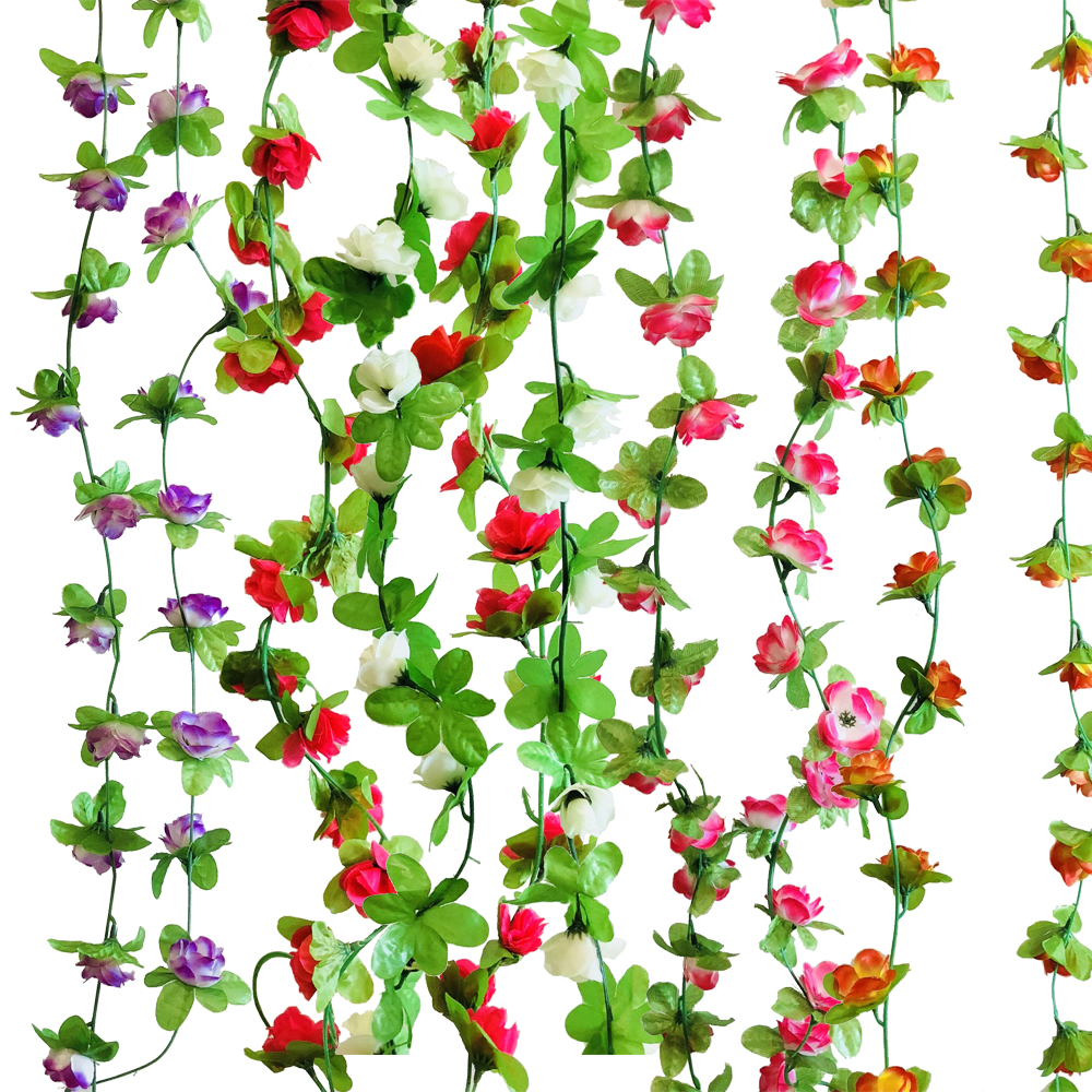 Artificial Green Ivy Leaf Garland Plants Fake Foliage Flowers Home Decoration