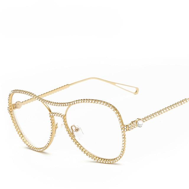 a26912d6cb1b1 Sunglasses Women Titanium Glasses Frames Men Brand Titanium Eyeglasses Gold  Shield Frame With Glasses Oculos De