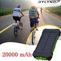 New 20000 mah solar power bank carregador de bateria externo portátil carregador dual usb solar para xiaomi iphone/all dispositivos usb