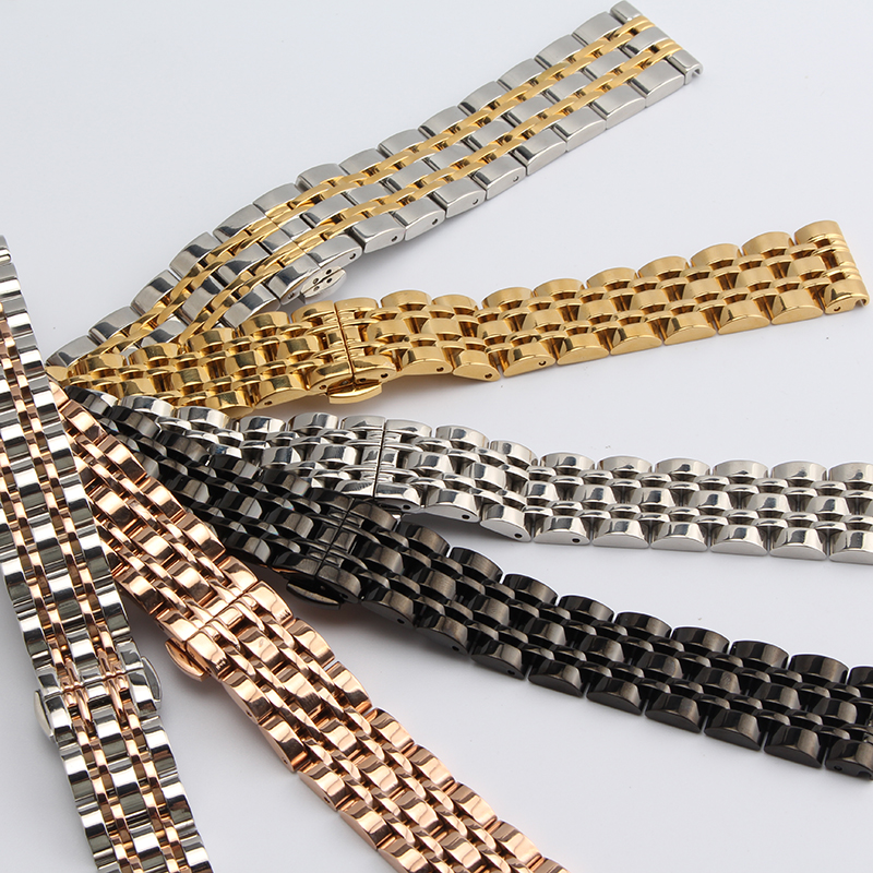 Náramek z nerezavějící oceli s pevným kovovým náramkem - Příslušenství k hodinkám - Fotografie 4