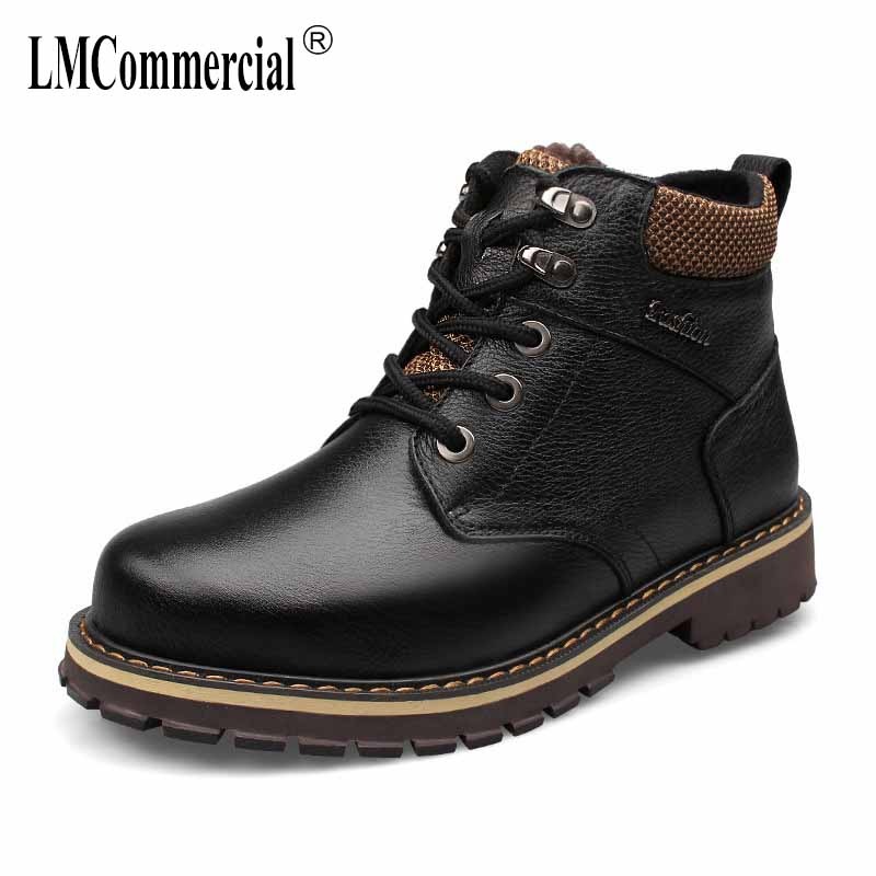 autumn winter first cowhide British retro breathable sneaker fashion Martin boots men casual shoes men's Chelsea boots Leisure