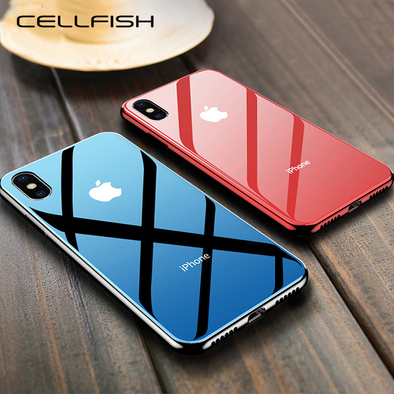 Luxury Tempered Glass Case for Apple iPhone 7 Plus 8 8Plus iPhone7 iPhone8 6s Capinhas Cover for Coque iPhone XS MAX XR 10 Case iphone