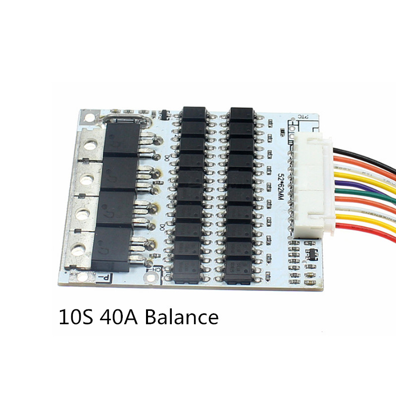 BMS 10S Battery Charge Balance Protection Circuit Board 36V 40A Lithium Ion Battery Protection Board With Cable