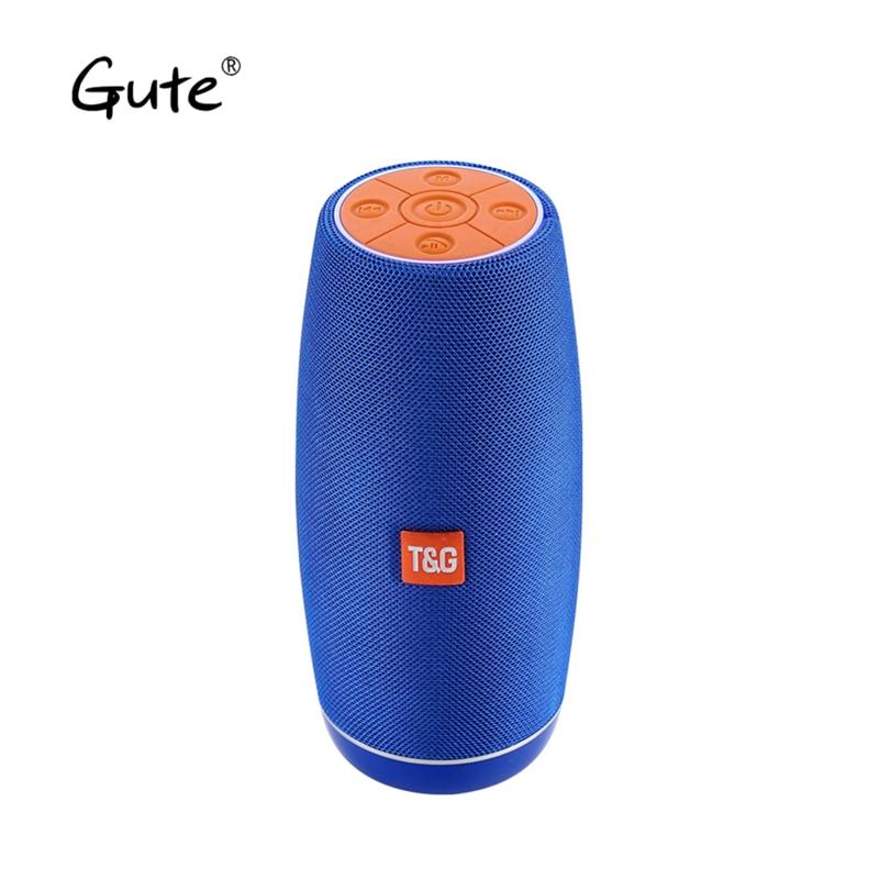 Gute hot LED fabric long column portable  woofer waterproof IPX4 Radio FM parlante bluetooth portatil altavoz ducha caixa de som