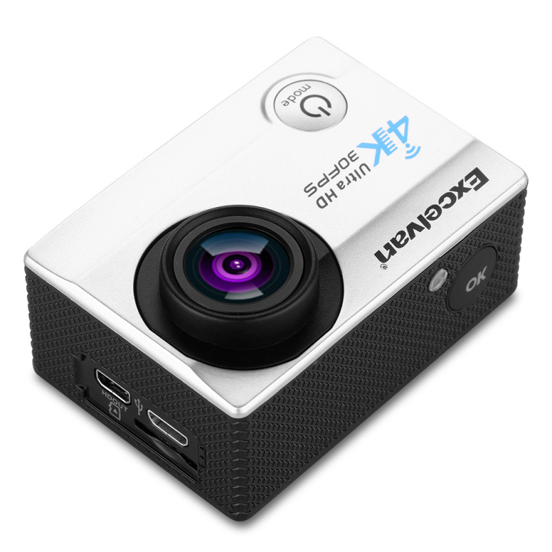 US $52 49 |Excelvan Q8 Action Camera 2 0 inch WiFi 4K 30FPS 16MP H 264 30m  Waterproof 170 Wide Lens Action DV Sports Camera-in Sports & Action Video