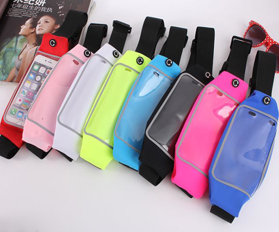 Waterproof Waist Travel Sport Running Belt Money Wallet Pouch For iPhone 6 Plus 5 5 Sports