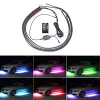 4 adet Araba RGB LED Şerit Işık LED Şerit Işıklar Altında 8 renkler Için Uzaktan Ile Tüp Gövde Altı Sistemi Neon Şasi Işık Kiti Cruze