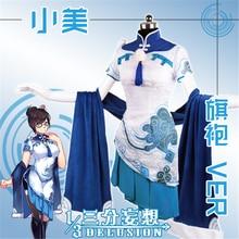 Игра D. VA милосердия Tracer Cheongsam равномерное платье Косплей Костюм