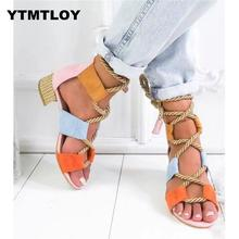 HOT 2019 Summer Wedge Espadrilles Women Sandals 5CM Heel Poi