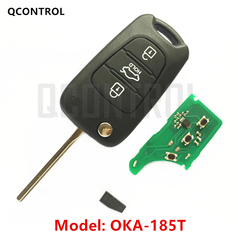 QCONTROL Car Remote Key Suit for KIA OKA-185T Car Vehicle Alarm 433MHz Transmitter ASSY 433-EU-TP CE <font><b>0682</b></font> image