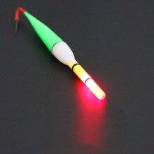 5Pcs Illuminant Fishing Float Cork Plastic Float With Long Trail LED Light Flashing Buoy US#V