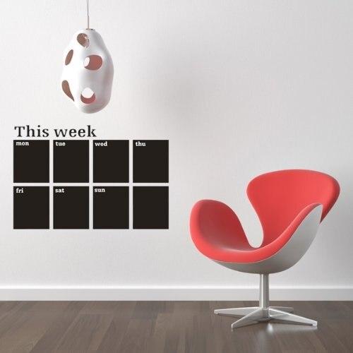 SOSW-Calendar Blackboard Removable Board Decal Sticker With Chalk