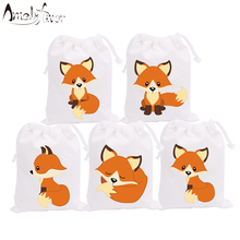 Woodland Fox Animals Theme Party Favor Bags Holiday Baby Sho