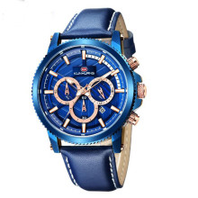 цена YUELANSHI Men's watch multi-function sports fashion luminous calendar small three-pin decorative quartz belt watch онлайн в 2017 году