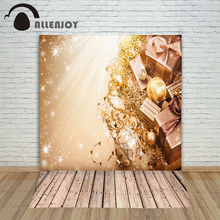 Background photography vinyl backdrop Wooden floor Christmas gift blur for a font b photo b font