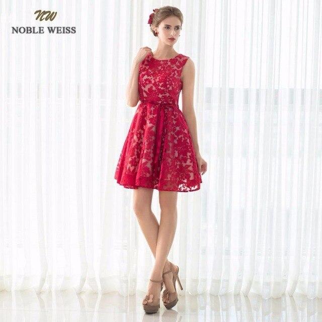 713198acfbd NOBLE WEISS 2019 offre spéciale rouge noir dentelle courte robes De bal Robe  De soirée Mini