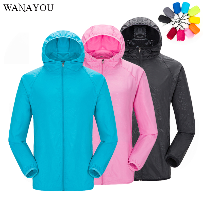 Unisex Sun-Protective Hiking Jackets Waterproof Skin Jackets Quick Dry Anti-UV Coats Outdoor Sports Clothing Male Female S-3XL