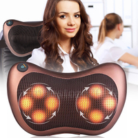 8 Heads Car Massage Pillow Electric Heating Kneading Shoulder Back Body Massager