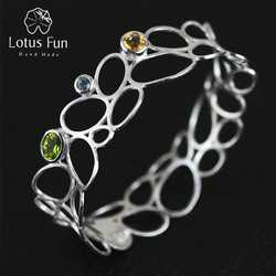 Lotus fun real 925 sterling silver natural topaz handmade fine jewelry vintage delicate luxury hollow out.jpg 250x250