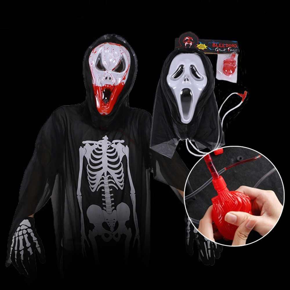 Маска на Хеллоуин в виде черепа Призрак страшные, пугающие крик Маскарад Маскарадный костюм