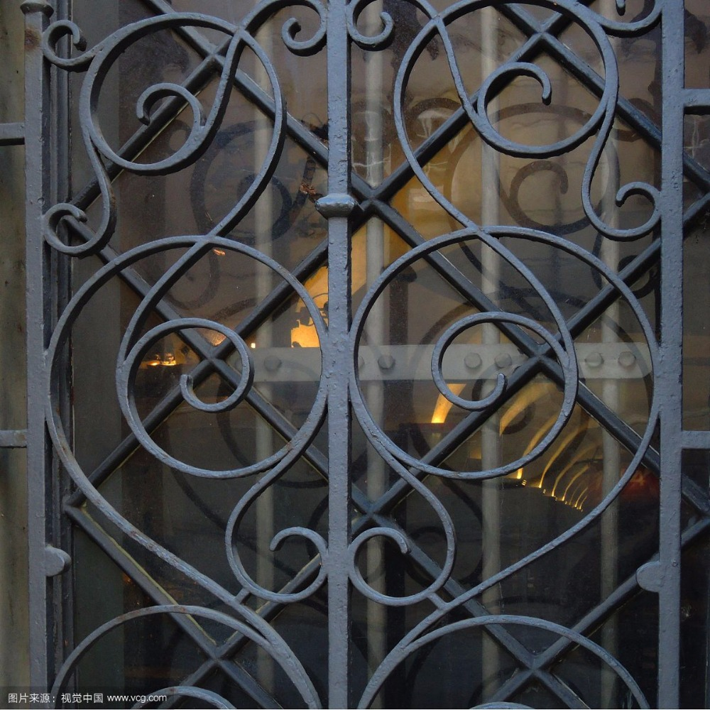 wrought iron steel glass window,metal glass window wrought