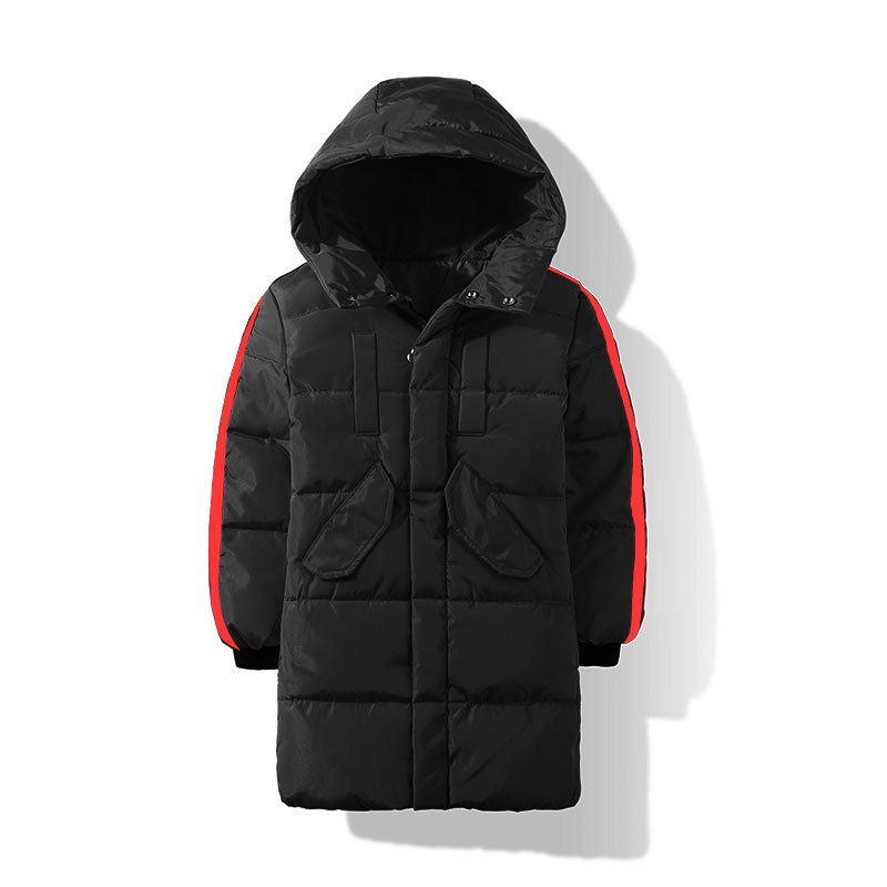 2018Winter New Children's Outerwear Coat Boys Girls Cute Thicken Long Sleeve Casual Fashion Woolen Cotton Down Parkas 1000pcs dupont jumper wire cable housing female pin contor terminal 2 54mm new