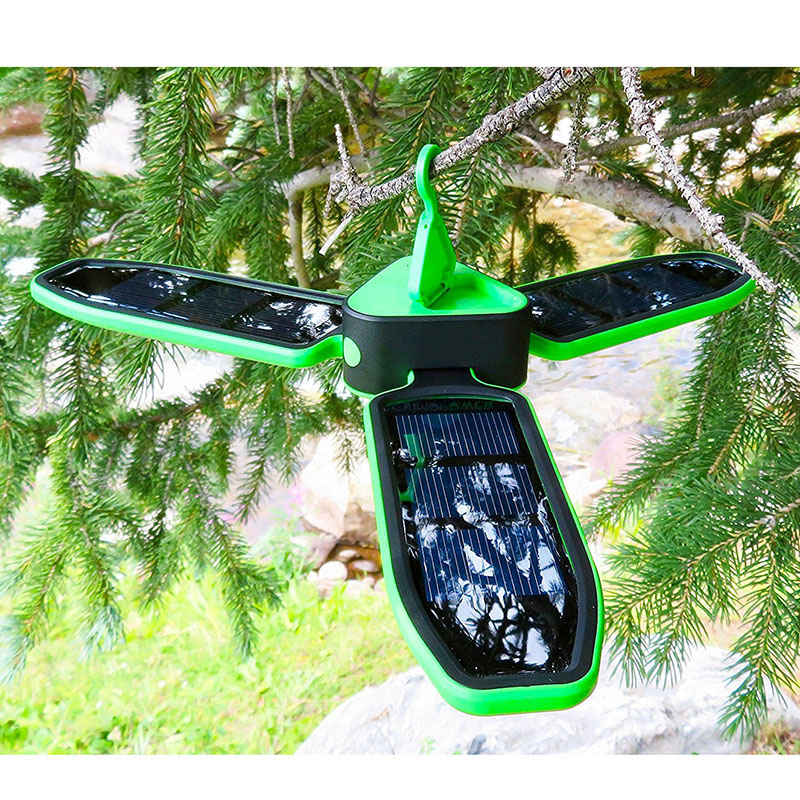 POTENCO 18 Led 3528 Portable Pliant Solaire Led Lumières Lampe De Trèfle Éclairage Extérieur USB Solaire Alimenté Rechargeable Camping Lumière