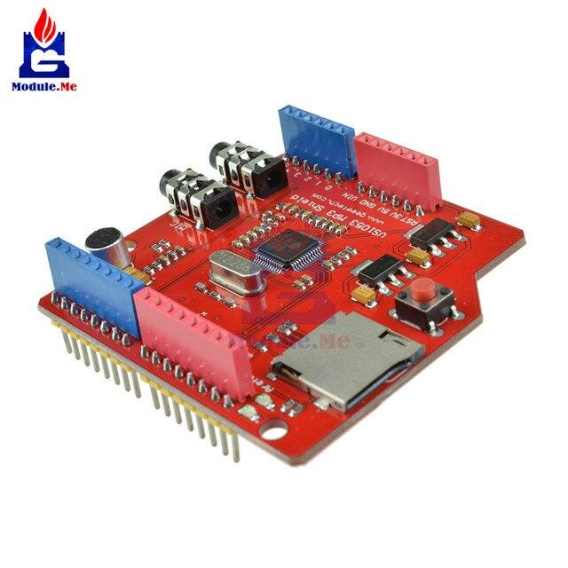 MP3 Musik Schild VS1053 VS1053B Stereo Audio MP3-Spieler Rekord Decode Entwicklung Bord Modul Mit TF Karte Slot 5 v für Arduino