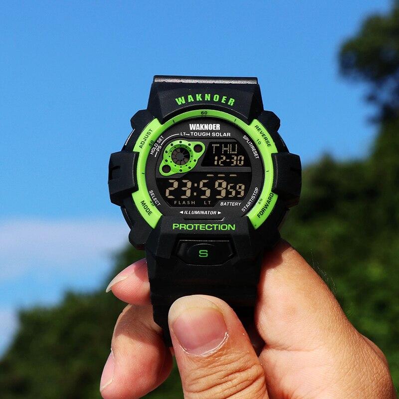 talla 40 82d3b 90ed4 US $4.55 |WAKNOER Watch Men Multifunction Waterproof Digital Watches Men  Fashion Military Sports Men Watches relojes dijital hombre saat -in Sports  ...
